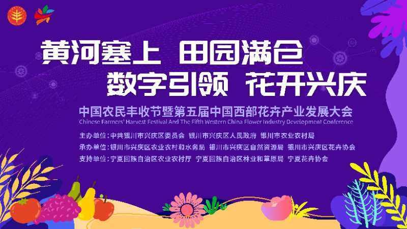 兴庆区中国农民丰收节暨第五届中国西部花卉产业发展大会即将启幕