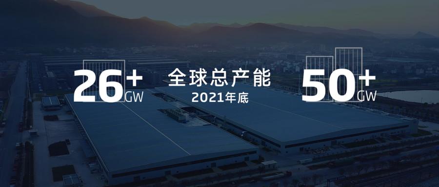 天合光能210超 级工厂:2021年全球产能将超50GW